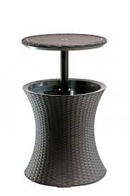 Table Drinks Cooler Durable Rattan Cool Bar Drinks Cooler Coffee Table Outdoor Garden