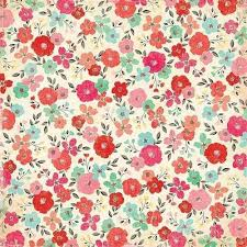 Flower Printed Paper Double Sided Printed Paper