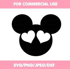 Mickey Mouse Head SVG Mickey Mouse Silhouette Vector SVG and