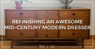 Refinishing An Awesome MidCentury Modern Dresser Iron And Tweed Delectable Mid Century Modern Furniture Restoration