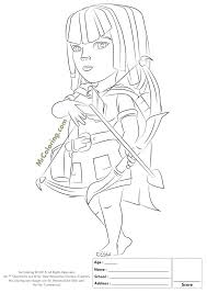 Free Printable Clash Of Clans Archer Coloring Pages 1 Kleurplaat