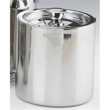 stainless steel ice bucket. Kraftware 70389 Polished Stainless Steel 1.5 Quart Doublewall Insulated Ice Bucket No Handle