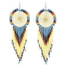 Dream Catcher Earing Navajo Beaded Dreamcatcher Earrings 59