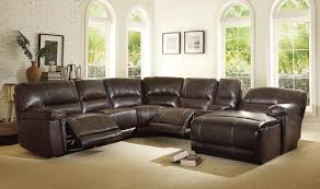 details about valdes 6 piece brown faux leather living room set reclining sofa couch sectional