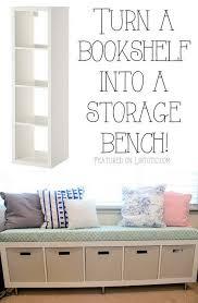 Image Ideas Bookshelf Storage Bench Turning Simple Ikea Bookshelf On Its Side To Create Storage Bench Seat Pinterest 25 Best Ikea Hacks Homey Home Decor Diy Home Decor Easy Home Decor