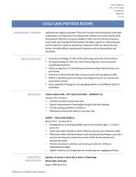 Child Care Resume Template Inspiration Transform Sample Childcare Resume Template With Child Care 48 For