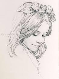 simple drawing in pencil. Modren Pencil Pencil Sketches Girls Simple Drawings Of Girl Inside Drawing In