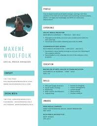 Resume Pdf Awesome Resumes Templates Blue Creative Resume Resumes Formats Pdf