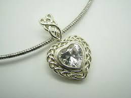 puffy heart cz pendant