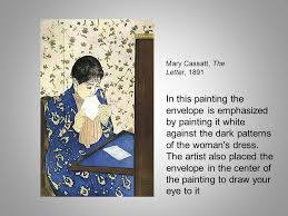 mary cassatt the letter 1891 in this painting the envelope is emphasized by painting