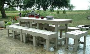 Benches For Patio Pine Wood Table And Bench Patio Furniture Set