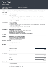 Office Administration Resume Samples Office Assistant Resume Sample Complete Guide 20 Examples