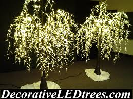 6.5' Warm White Weeping Willow Trees With 1184 LED Lights - $699 ea