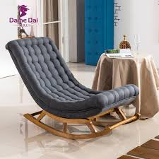wood lounge chairs. Modern Design Rocking Lounge Chair Fabric Upholstery And Wood For Home Furniture Living Room Adult Luxury Chairs