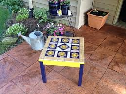mexican tile table fun patio table made from tiles spray paint and tile patio table mexican mexican tile table