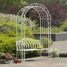 gloucester 2 seat white cast iron arch