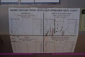 Adams Ground Driven Fertilizer Spreader Chart Adams Fertilizer Spreader Buggy Item K4991 Sold Decembe