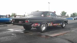 57 Chevy gasser Burnout at Empire Dragway - YouTube