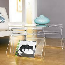 Image of: Acrylic Coffee Table Small