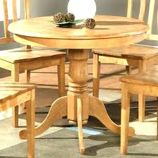 small round oak dining table and chairs wooden kitchen solid set