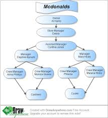 Organizational Structure Chart Of Mcdonalds Mcdonalds Organizational Chart Custom Paper Sample