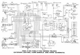 1965 ford f100 dash gauges wiring diagram ford truck wiring 1971 Ford F100 Wiring Lamp interior light turn signals and horn schematic diagram of 1964 ford f100 f750 series trucks ford Ford Truck Wiring Diagrams