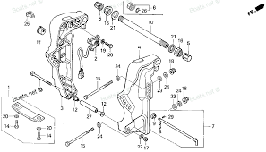 Honda outboard motor parts pictures