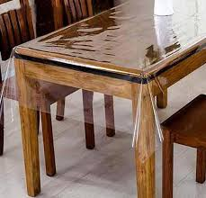 clear plastic transpa dining table covers