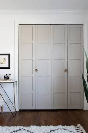 Closet doors Frosted Glass Maximizing Closet Space Room For Tuesday Room For Tuesday Paneled Bifold Closet Door Diy Room For Tuesday