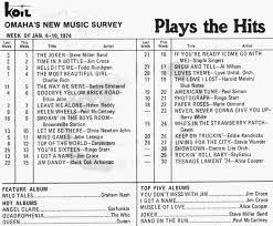 Album Charts 1974 1974 Rock Music Photo Gallery