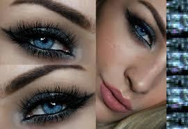 eyeshadow for blue eyes silver smokey eye tutorial