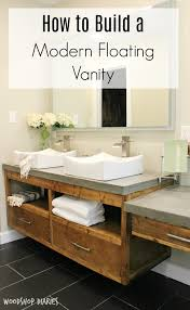 diy floating vanity. Brilliant Floating Free Building Plans To Create Your Own Modern DIY Floating Bathroom Vanity  That Could Double As A Floating Tv Console Throughout Diy Vanity E