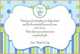 Baby Shower Thank You Notes Baby Shower Thank You Note Wording Ideas House Generation 1
