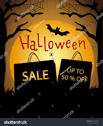 halloween sale flyer halloween sale flyer sale banner bat stock vector 711539392