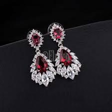 elegant chandelier top quality cubic zirconia crystal dangle drop earrings drops earrings