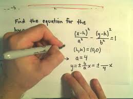 finding the equation for a hyperbola given the graph example 1