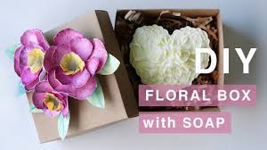 diy watercolor paper flower box and melt pour soap free gift box template