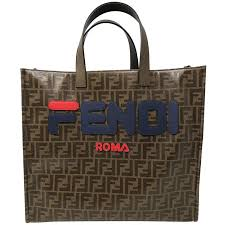 Fendi X Fila Tess Shopper Tote For Sale At 40stdibs Beauteous Fendi Bedroom Furniture Creative Painting