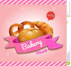 Bakery Shop Logo Design With Bread Stock Vector Illustration Of