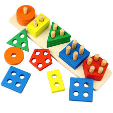 Get Quotations · Dreampark Wooden Educational Toys, Shape Color Sorting Preschool Stacking Blocks Toddler Puzzles Toys Birthday Cheap For Boys Age 1, find 1 deals on line at