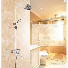 bathroom accessories rose gold shower head past retro style bathtub shower faucet gold plated diamond