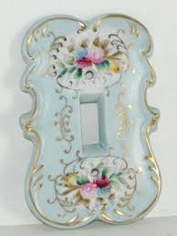 porcelain switch plates. Fine Switch Vintage Mid Century Blue Porcelain Arnart Floral Switch Plate Cover Gold  Arnart For Plates P