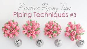 Russian Piping Tips Chart Russian Piping Tips Cupcake Piping Techniques Tutorial 3