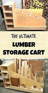 rolling mobile lumber storage rack wood diy plans ultimate cart