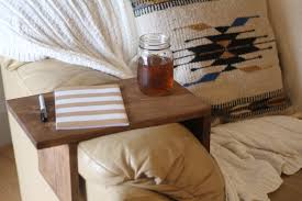 Couch Tray Table Rustic Sofa Arm Rest Table Couch Tray Arm Rest Tray