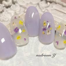 春ブライダルデート女子会ワンカラー Nailroomyのネイルデザイン