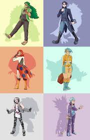 Gijinka (human versions) of my Sword Champion team (Pokemon list in  comments) [OC] : pokemon