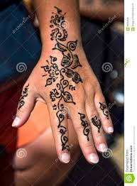 татуировка хны на руке стоковое изображение изображение