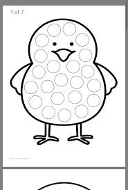 Easter Dauber Coloring Pages With Easter Dauber Sheet Dot Art 2