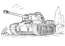 Military Tank Coloring Pages Coloringstar